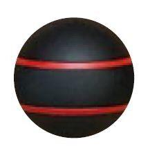 Jakele Kammergriffkugel Aluminium, schwarz, harteloxiert, mit 2-roten Fäden