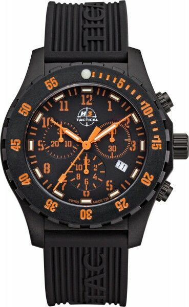 H3 TACTICAL Trooper Chronograph H3 Uhr Orange H3.3322.795.1.3