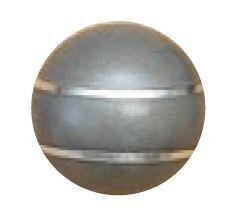 Jakele Kammergriffkugel Stainless-Look, mit 2-silberfarbenen Fäden