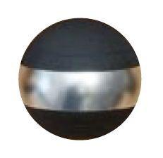 Jakele Kammergriffkugel Aluminium, schwarz, harteloxiert, mit 1-silberfarbenen Ring