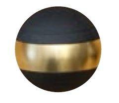 Jakele Kammergriffkugel Aluminium, schwarz, harteloxiert, mit 1-goldfarbenen Ring